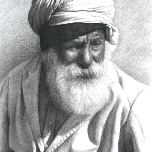 Mark Clark - Rajasthani Man with White Beard, Jodphur