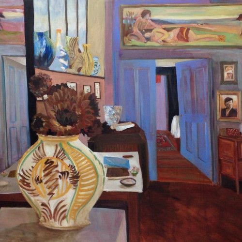 Lottie Cole - Charleston Studio Looking Through to the Bedroom