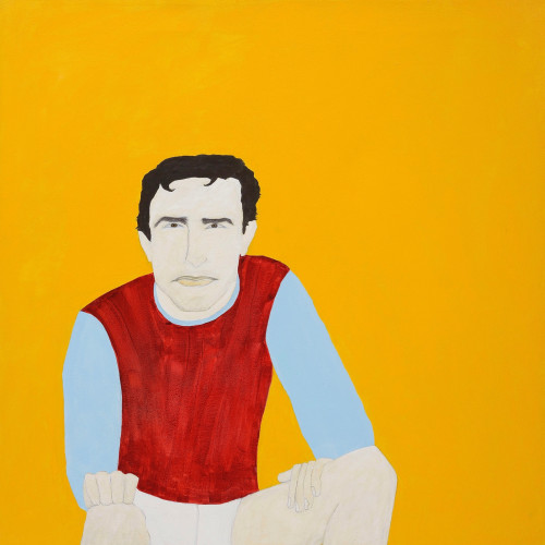 Kate Boxer - Trevor Brooking (acrylic ink on canvas)