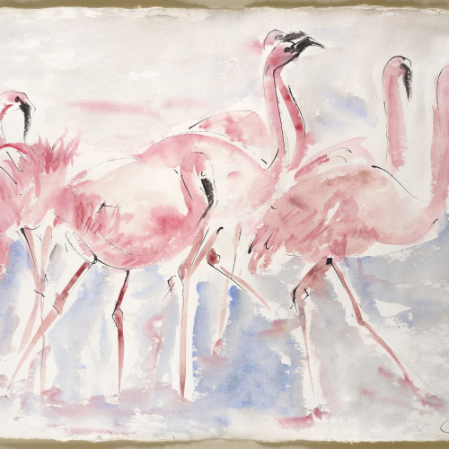 Christine Seifert - Flamingoes (Framed)