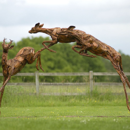 Claire Norrington - Wild Deer Leaping