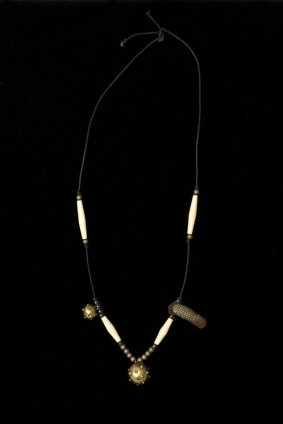Robert Mapplethorpe  Necklace, c. 1970  Mixed media  Length 55.9 cm / 22 ins  Unique
