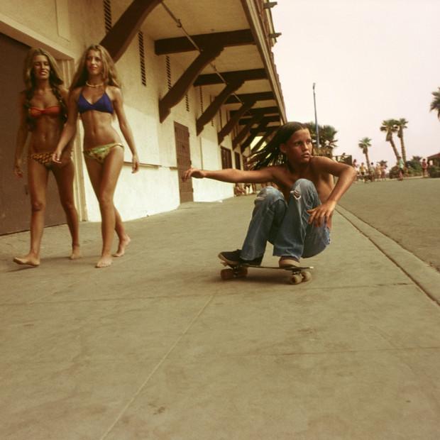 Hugh Holland - Sidewalk Surfer, Huntington Beach