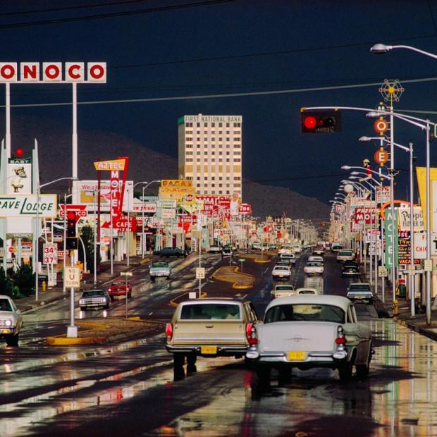 Ernst Haas - Route 66, Albuquerque, New Mexico
