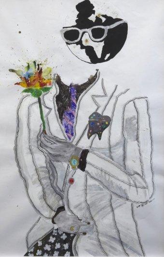 <em>Sans titre (L' homme à la fleur)</em>, 2011