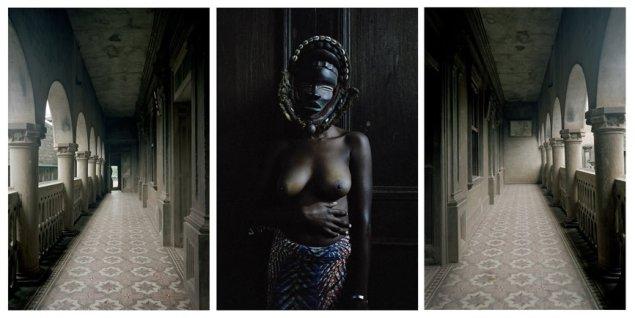 <em>Untitled triptych (Demoiselles de Porto-Novo series)</em>, 2012