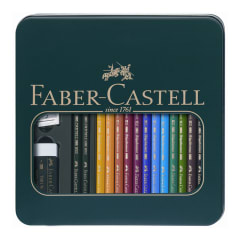FC Mixed Polychromos Pencil Tin 12 + 2 Castell 9000 pencils