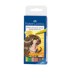 FC Pitt Artist Pen MANGA Brush Tip Kaoiro Set draw skin