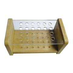 NAM 24 Hole Brush Holder - wood & perspex