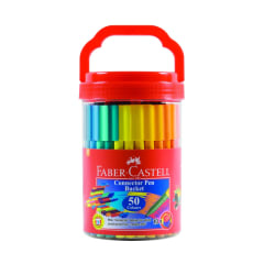 Faber-Castell Connector Pens Bucket of 50 assorted
