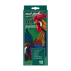 Mont Marte 12pce Oil Paints 12ml