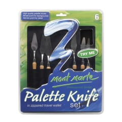 Mont Marte Palette Knife Set / 6 in Zippered Wallet