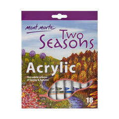 Mont Marte Two Seasons Watercolours 12ml x 18pce