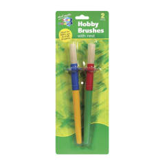 M.M. Kids Colour Hobby Brush with Rest 2pce