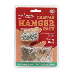 Mont Marte Canvas Hanger Pack Lge Heavy Duty 10pce