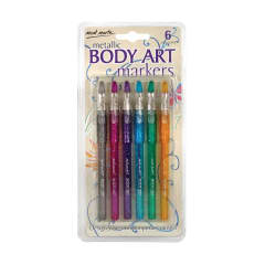 Mont Marte Body Art Markers - Metallic 6pce