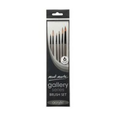 Mont Marte Gallery Series Brush Set Acrylic 6pce