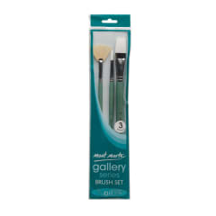 Mont Marte Gallery Series Brush Set Oils 3pce