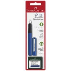 Faber-Castell School Fountain Pen Blue with cartridges