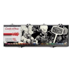 Conte Crayon Set - 24 Assorted Colour