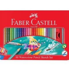 Faber-Castell Watercolour Pencils tin of 60