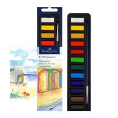Faber-Castell Studio Watercolour Paint Tin of 12