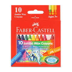 Faber-Castell Jumbo Wax Crayons 10 assorted