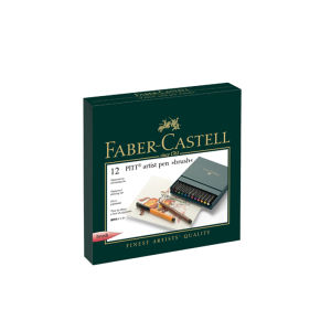 Faber-Castell Pitt Artist Pen Folio case 12 assorted