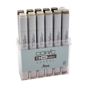 Copic Marker Set 12 Warm Grey