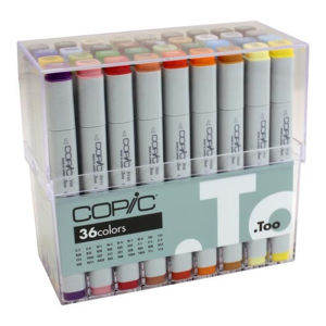 Copic Marker Set 36 Assorted