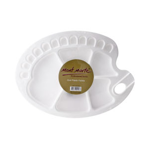 Mont Marte Oval Plastic Palette with wells 34x25cm