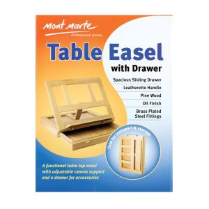 Mont Marte Table Easel w/Drawer - Pine