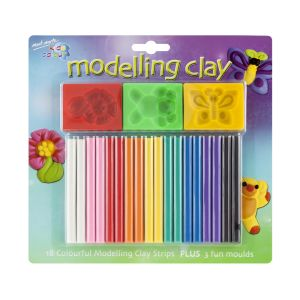 Mont Marte Kids Colour Modelling Clay Set w/Moulds 21pce