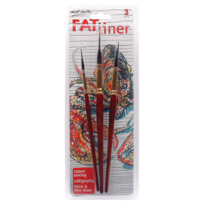 Mont Marte Fat Liner Brush Set Taklon/Squirrel 16/10/6