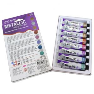 Mont Marte Metallic Acrylic Intro Set 8pce x 18ml