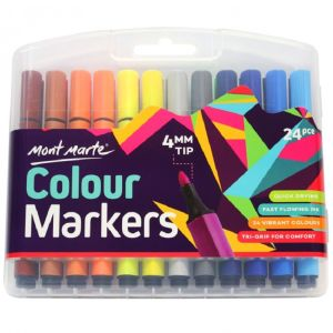 Mont Marte Colour Markers 24pce in case