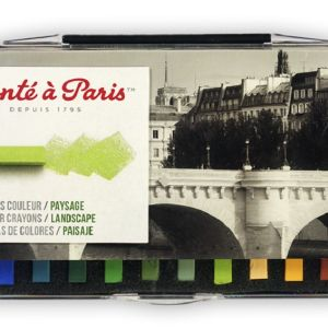 Conte Crayon Set - 12 Assorted Landscape Colour