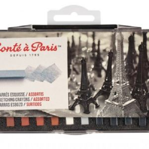 Conte Crayon Set - 12 Assorted Sketch