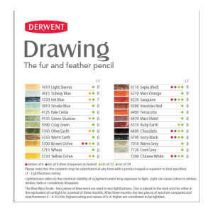 Derwent Drawing Pencil tin 6