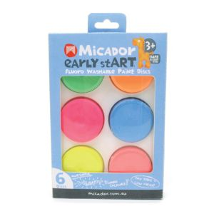 early stART Fluoro Washable Paint Discs