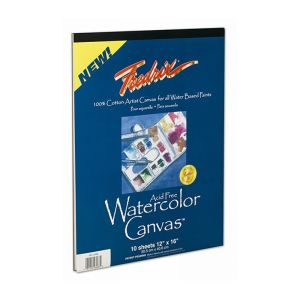 Fredrix Watercolour Canvas Pad 9 x 12in