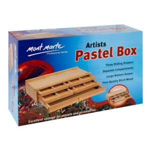 Mont Marte 3 Drawer Wood Pastel Box