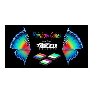 GLOBAL RAINBOW CAKES 50g Bright Rainbow