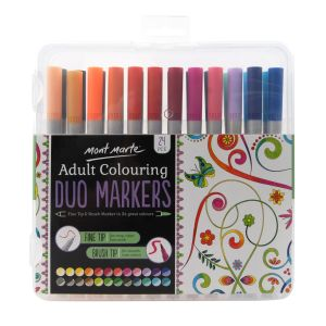 Mont Marte Adult Colouring Duo Markers 24pce