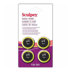 SCULPEY TEXTURE WHEEL ADD ON HEADS 4PK