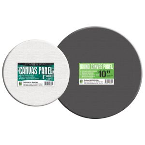 National Art Materials Round Canvas Panels - Black