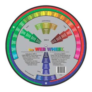 Web Wheel Visual Aid with 216 colours