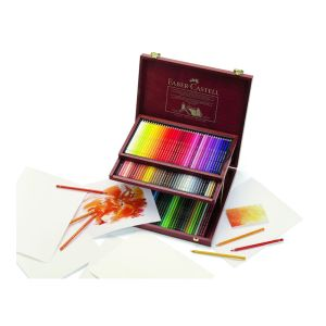 Faber-Castell Polychromos Pencil 120 assorted in a wood case
