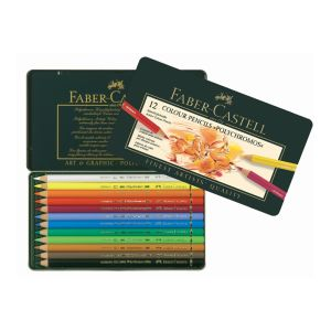 Faber-Castell Polychromos Pencil 12 assorted in a tin