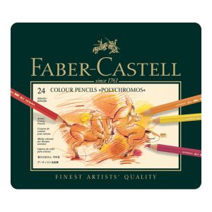 Faber-Castell Polychromos Pencil 24 assorted in a tin